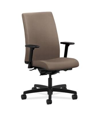 HON Ignition Mid-Back Task Chair | Synchro-Tilt, Back Angle | Adjustable Arms | Antelope Vinyl