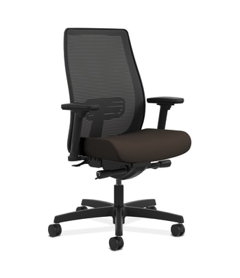 HON Endorse Mesh Mid-Back Task Chair | Built-In Lumbar | Synchro-Tilt, Seat Glide | Espresso Fabric