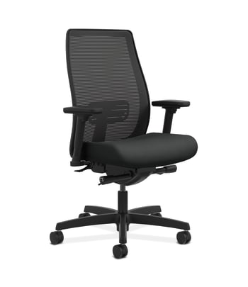 HON Endorse Mesh Mid-Back Task Chair | Built-In Lumbar | Synchro-Tilt, Seat Glide | Charcoal Fabric