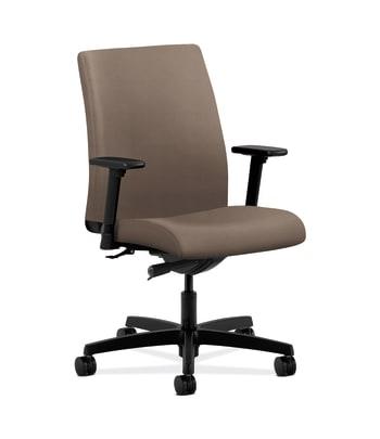 HON Ignition Low-Back Task Chair | Synchro-Tilt | Adjustable Arms | Antelope Vinyl