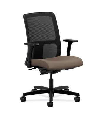HON Ignition Low-Back Mesh Task Chair | Synchro-Tilt, Back Angle | Adjustable Arms | Antelope Vinyl
