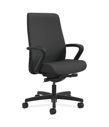 HON Endorse Mid-Back Task Chair | Fabric Outer Back | Built-In Lumbar | Synchro-Tilt, Seat Glide | Iron Ore Fabric