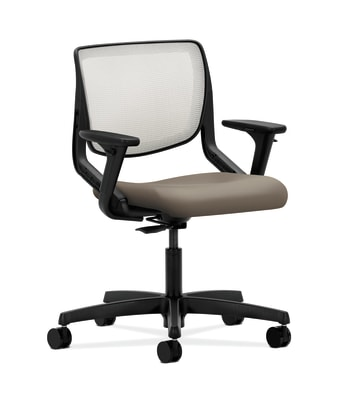 HON Motivate Task Chair | Fog 4-way stretch Back | Adjustable Arms | Antelope Fabric