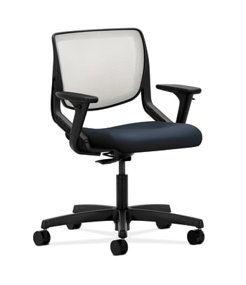 HON Motivate Task Chair | Fog 4-way stretch Back | Adjustable Arms | Navy Fabric