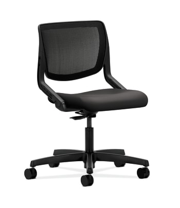 HON Motivate Task Chair | Black 4-way stretch Back | Charcoal Fabric