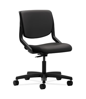 HON Motivate Task Chair | Upholstered Back | Onyx Shell | Charcoal Fabric