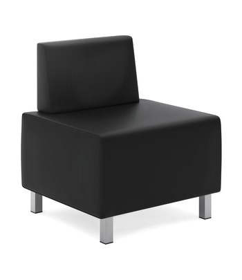 HON Modular Lounge Chair | Black SofThread Leather