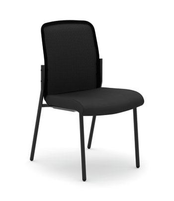 HON Instigate Mesh Back Stacking Multi-Purpose Chair | Black Fabric