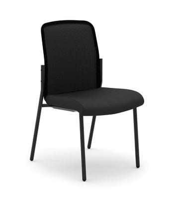 HON Instigate Mesh Back Stacking Multi-Purpose Chair | Black Fabric