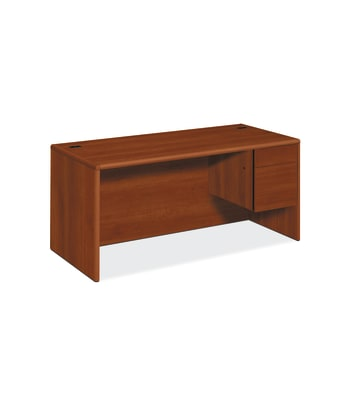 "HON 10700 Series Right Pedestal Desk | 1 Box / 1 File Drawer | 66""W 