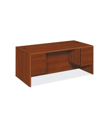 "HON 10700 Series Double Pedestal Desk | 2 Box / 2 File Drawers | 72""W | Cognac Finish"