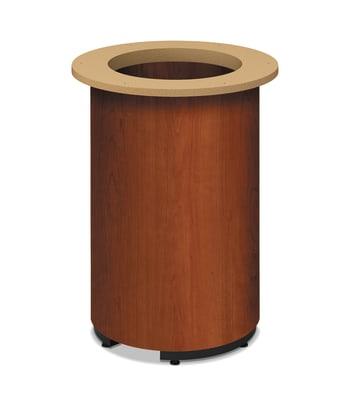 HON Preside Laminate Cylinder Base | Cognac Finish