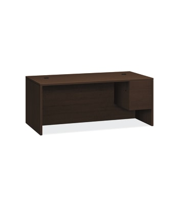 "HON 10500 Series Right Pedestal Desk | 1 Box / 1 File Drawer | 72""W 