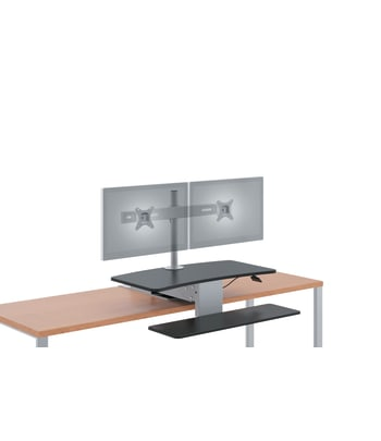 HON Desktop Riser | Dual Monitor Arm