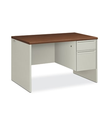 "HON 38000 Series Small Office Desk | 1 Box / 1 File Drawer | 48""W 
