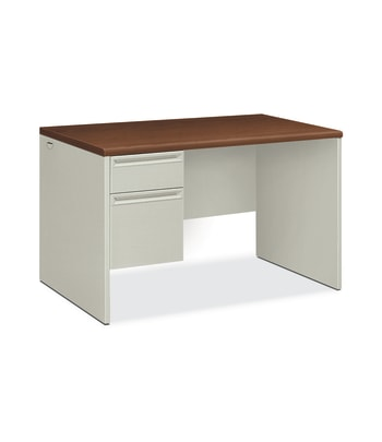"HON 38000 Series Left Pedestal Desk | 1 Box / 1 File Drawer | 48""W 
