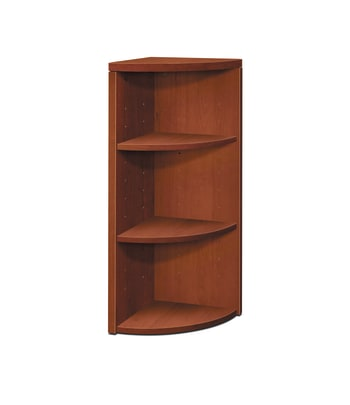 HON 10500 Series End Cap Bookshelf | 3-Shelf | 15W x 15D x 37-1/8H | Cognac Finish
