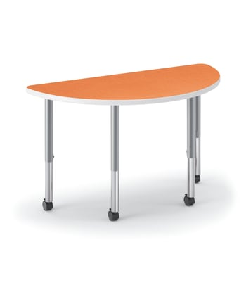 "HON Build Table | Half Round Shape | 60""W x 30""D 