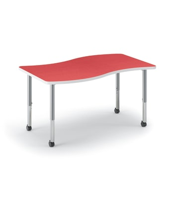 "HON Build Table | Ribbon Shape | 54""W x 30""D 