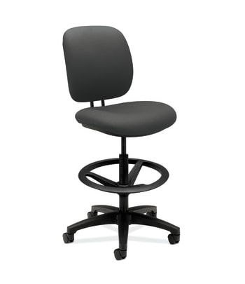 HON ComforTask Stool   Extended Height, Footring   Iron Ore Fabric