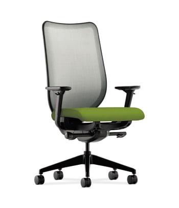 HON Nucleus Task Chair   Fog 4-way stretch Back   Synchro-Tilt, Seat Glide   Adjustable Arms   Pear Fabric