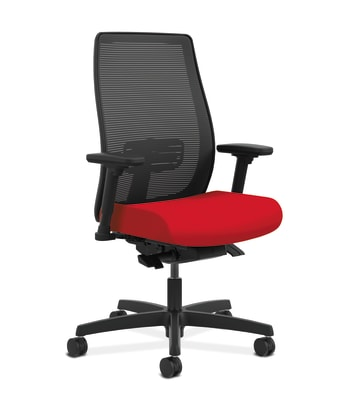 HON Endorse Mesh Mid-Back Task Chair | Built-In Lumbar | Synchro-Tilt, Seat Glide | Ruby Fabric
