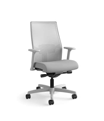 HON Ignition 2.0 Mid-Back Task Chair | Fog 4-way stretch Mesh Back| Easy Assembly | Titanium Frame | Frost Fabric