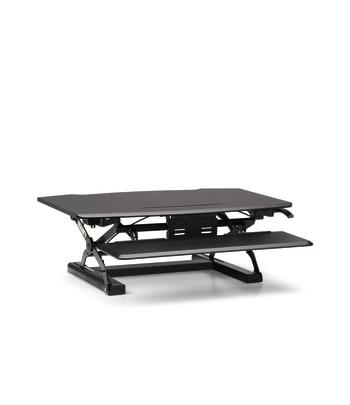 HON Coordinate Desktop Riser with Keyboard Tray | Black