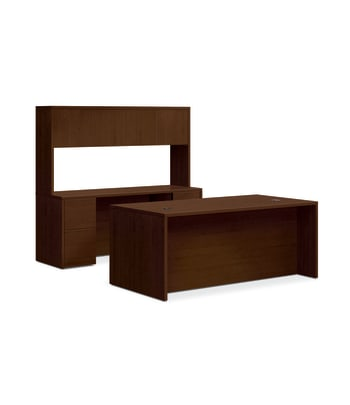 "HON 10500 Series Double Pedestal Desk / Credenza | Stack-On Storage | Full Pedestals | 4 Box / 4 File Drawers | 72""W 