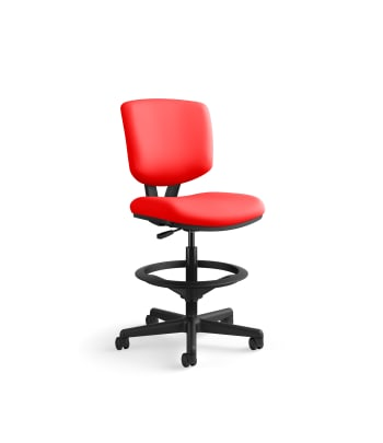 HON Volt Task Stool | Extended Height, Footring | Ruby Fabric