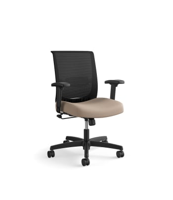 HON Convergence Task Chair | Swivel Tilt Control | Height- and Width-Adjustable Arms | Adjustable Lumbar Support | Morel Fabric Seat