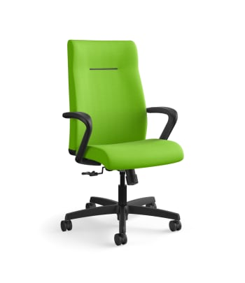 HON Ignition Executive High-Back Task Chair | Fixed Arms | Hard Casters | Upholstered Back | Pear Fabric | Standard Base