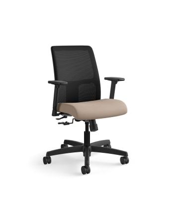 HON Ignition Low-Back Mesh Task Chair | Center-Tilt | Adjustable Arms | Morel Fabric