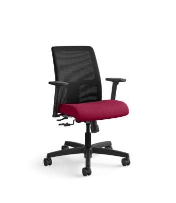 HON Ignition Low-Back Mesh Task Chair | Center-Tilt | Adjustable Arms | Marsala Fabric
