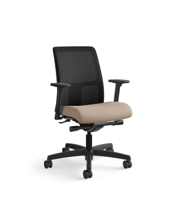 HON Ignition Low-Back Mesh Task Chair   Synchro-Tilt   Adjustable Arms   Morel Fabric