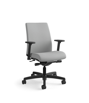 HON Ignition Low-Back Mesh Task Chair | Synchro-Tilt | Adjustable Arms | Frost Fabric