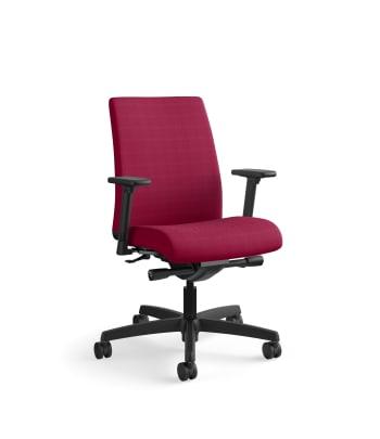 HON Ignition Low-Back Mesh Task Chair | Synchro-Tilt | Adjustable Arms | Marsala Fabric