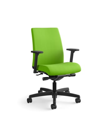 HON Ignition Low-Back Mesh Task Chair | Synchro-Tilt | Adjustable Arms | Pear Fabric