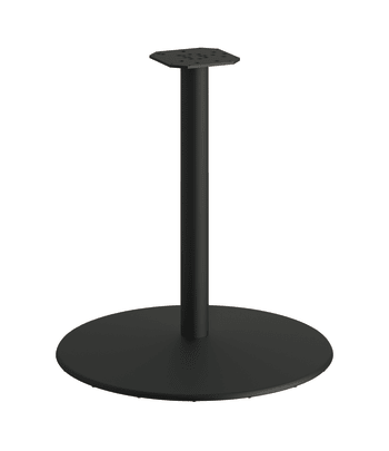 """HON Between Round Table Base   For 30"""" Tops   Black Mica Texture Finish"""
