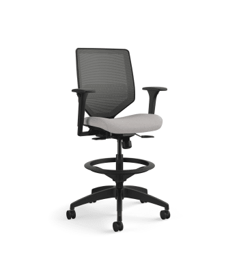 Solve Mid-Back Task Stool with Knit Mesh Back