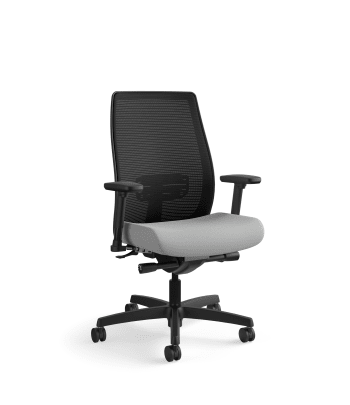 HON Endorse Mesh Mid-Back Task Chair | Built-In Lumbar | Synchro-Tilt, Seat Glide | Frost Fabric