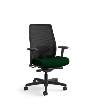 HON Endorse Mesh Mid-Back Task Chair | Built-In Lumbar | Synchro-Tilt, Seat Glide | Jade Fabric