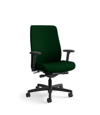 HON Endorse Mid-Back Task Chair | Fabric Outer Back | Built-In Lumbar | Synchro-Tilt, Seat Glide | Jade Fabric