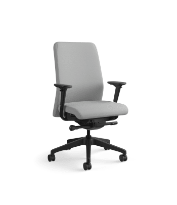 HON Nucleus Task Chair   Upholstered Back   Synchro-Tilt, Seat Glide   Adjustable Arms   Frost Fabric
