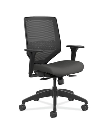 HON Solve Mid Back Task Chair | Mesh Back | Iron Ore Fabric