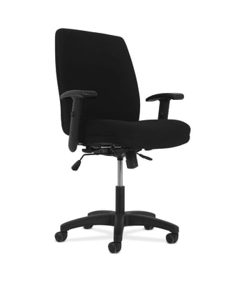 HON Network High-Back Task Chair | Synchro-Tilt Control With Seat Slider | Height- and Width-Adjustable Arms | Black Fabric