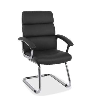 HON Traction Modern Guest Chair | Black SofThread Leather