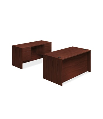 "HON 10500 Series Double Pedestal Desk / Credenza | 3/4 Pedestals | 4 Box / 4 File Drawers | 60""W 