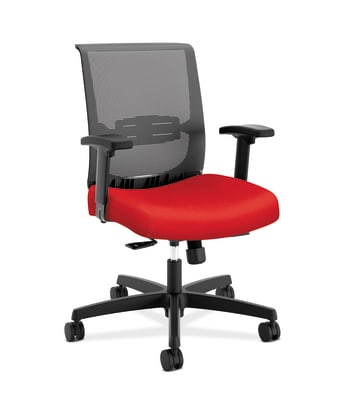 HON Convergence Task Chair | Synchro-Tilt With Seat Slide Control | Height- and Width-Adjustable Arms | Ruby Fabric