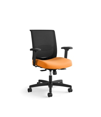 HON Convergence Task Chair | Synchro-Tilt With Seat Slide Control | Height- and Width-Adjustable Arms | Apricot Fabric